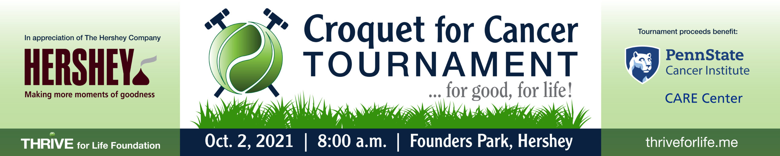 THRIVE_Croquet for Cancer_Grand Sponsor_Route 322 Banner_08-31-2021